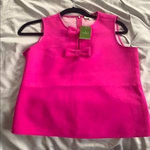 Pink sleeveless kate spade top